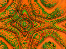 Abstract green, brown and orange illustration 1 Stock Photo