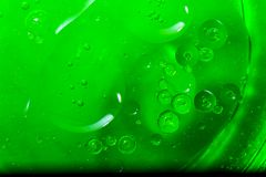 Abstract green Bubbles Of Water Stock Photos