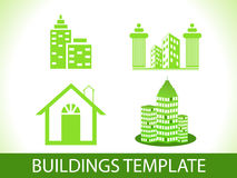 Abstract green buildings template Royalty Free Stock Photography