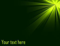Abstract green burst background Royalty Free Stock Photos