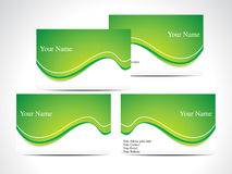Abstract green business card Royalty Free Stock Photo