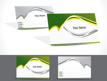 Abstract green business card Stock Image