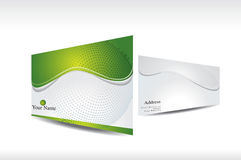 Abstract green business card with 3d presentation Royalty Free Stock Photo