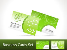 Abstract green business card template Stock Photos