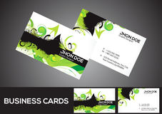 Abstract green business card template Stock Photo