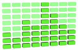 Abstract green business graph 3d Stock Photography