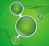 Abstract green button Stock Photography