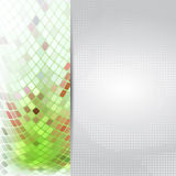 Abstract green card or invitation template. Royalty Free Stock Images