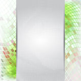 Abstract green card or invitation template. Royalty Free Stock Photos