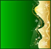 Abstract green christmas background. Illustration of a abstract green christmas background Royalty Free Stock Photo