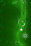Abstract green Christmas background vector illustration