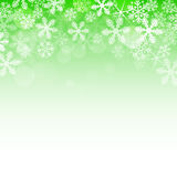 Abstract green christmas background. With snowflakes stock illustration