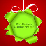 Abstract green Christmas ball Royalty Free Stock Photos