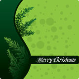 Abstract Green Christmas Design Royalty Free Stock Photos