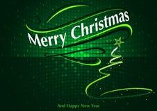 Abstract Green Christmas Greeting Royalty Free Stock Image