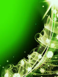 Abstract green christmas three background Stock Images