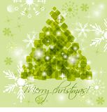 Abstract green christmas tree Royalty Free Stock Photos