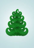 Abstract green christmas tree Royalty Free Stock Image