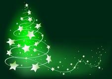 Abstract Green Christmas Tree Royalty Free Stock Photos