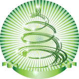 Abstract green Christmas tree. Royalty Free Stock Photo
