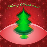 Abstract green christmas tree Royalty Free Stock Images
