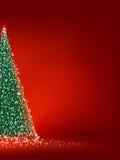 Abstract Green Christmas Tree. EPS 8 Stock Image