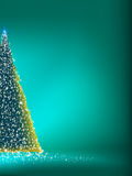 Abstract green christmas tree on green. EPS 8 Stock Photo