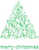 Abstract green christmas tree greeting card vector Royalty Free Stock Photo