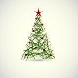 Abstract green christmas tree vector Stock Photo