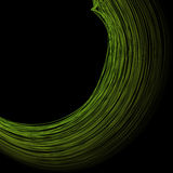 Abstract the green circle on black background. Abstract the green circle, figure on black background Royalty Free Stock Photos