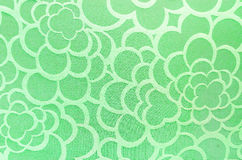 Abstract green circle fabric texture and background Stock Photos