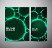 Abstract green circle pattern. Graphic resources design template. Stock Photo