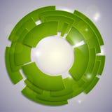Abstract green circles Stock Images