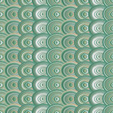 Abstract green circles seamless pattern background.  Stock Images