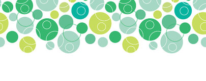 Abstract green circles seamless pattern background Royalty Free Stock Photo