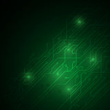 Abstract green circuit digital technology texture pattern design background Royalty Free Stock Image
