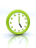 Abstract green clock Royalty Free Stock Photos