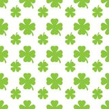 Abstract green clover seamless pattern Stock Images