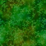 Abstract green cloverleaf pattern. Seamless illustration. Stock Image