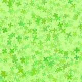 Abstract green cloverleaf pattern. Vector seamless illustration. Stock Photography