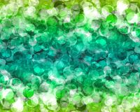 Abstract green color bokeh wallpaper Royalty Free Stock Photography