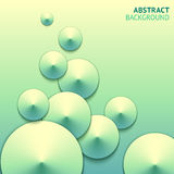 Abstract green cones bright vector background Stock Images