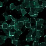 Abstract green crystal cubes background Royalty Free Stock Photography