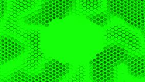 Abstract green crystallized background. Honeycombs move like an ocean. With place for text or logo. Abstract green crystallized background. Honeycombs move like Stock Photos