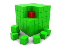 Abstract green cube Royalty Free Stock Photography