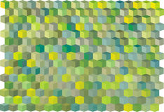 Abstract green cube pattern Stock Images