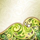 Abstract Green Curve Royalty Free Stock Image