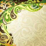 Abstract Green Curve Background Royalty Free Stock Photo
