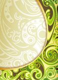Abstract Green Curve Background Royalty Free Stock Photos