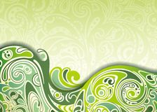 Abstract Green Curve Background Stock Photos